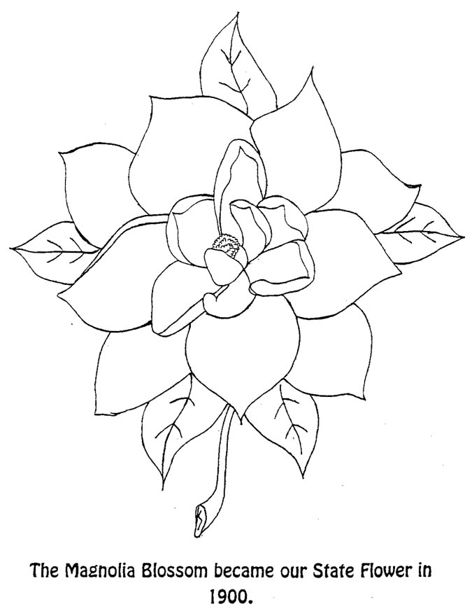 Louisiana State Stamp Coloring Page | Coloring pages, Coloring ... | 880x675